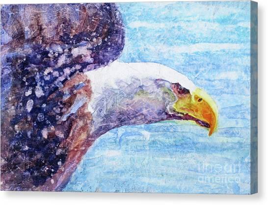 Eagle In Flight Canvas Print - Bald Eagle Portrait 2 by Bonnie Rinier
