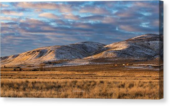 Bald Mountain At Dawn 2 Canvas Print by The Couso Collection