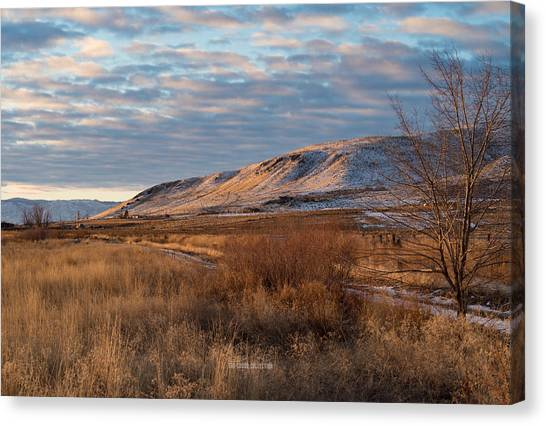 Bald Mountain At Dawn Canvas Print by The Couso Collection