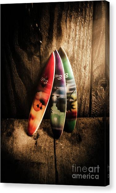 Surfboard Canvas Print - Bali Beach Surf Holiday Scene by Jorgo Photography - Wall Art Gallery