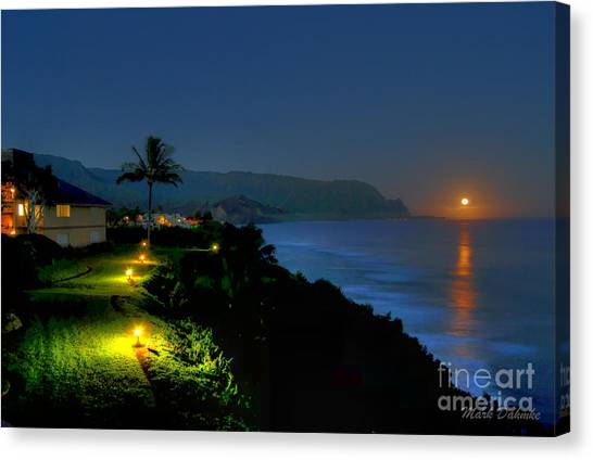Bali Hai Moonset Canvas Print