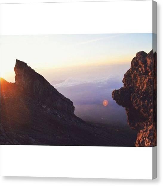 Vulcans Canvas Print - #bali #indonesia #asia #vulc #vulcan by Maximilian Gierlinger