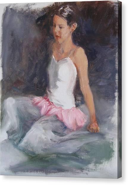 Ballerina At Rest Canvas Print by Connie Schaertl