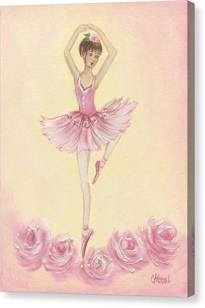 Ballerina Beauty Painting Canvas Print
