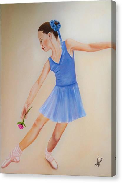 Ballerina Blue Canvas Print