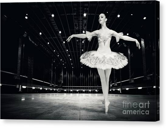 Canvas Print featuring the photograph Ballerina by Dimitar Hristov