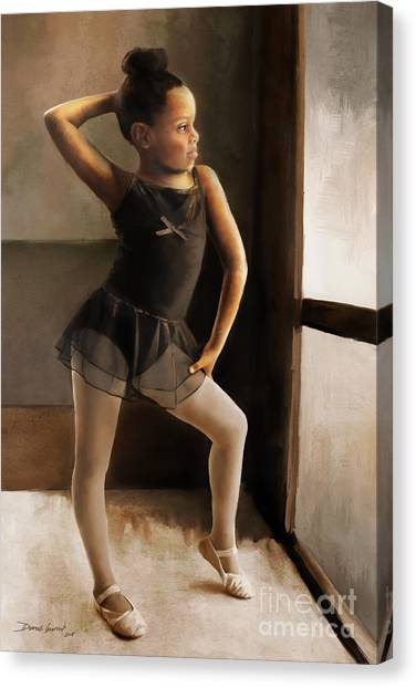 Canvas Print featuring the digital art Ballerina by Dwayne Glapion