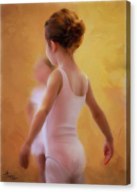 Ballerina In Pink Canvas Print