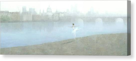 Ballerina On The Thames Canvas Print