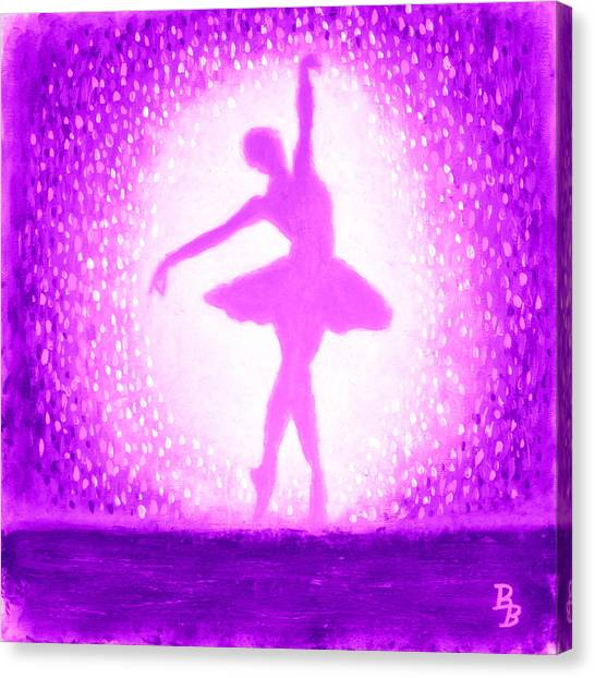 Ballerina Purple And Pink Canvas Print