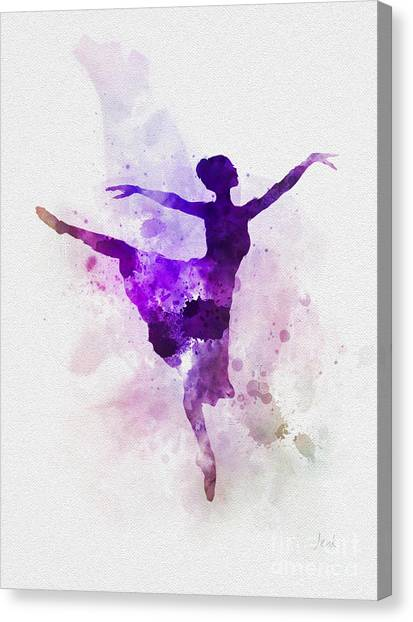 Music Genres Canvas Print - Ballerina by Rebecca Jenkins