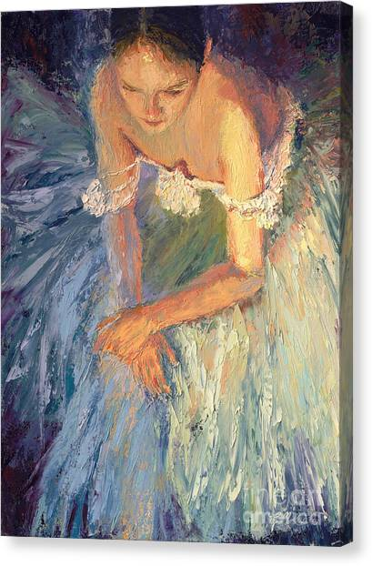 Ballerina Resting Canvas Print by Colleen Murphy