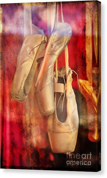 Ballerina Shoes Canvas Print