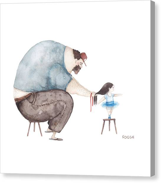 Love Canvas Print - Ballerina by Soosh