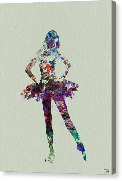 Costume Canvas Print - Ballerina Watercolor by Naxart Studio