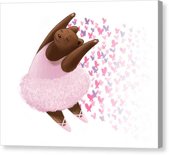 Ballet Bear Canvas Print