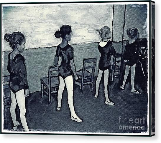 Canvas Print - Ballet Class Monochrome by Sarah Loft