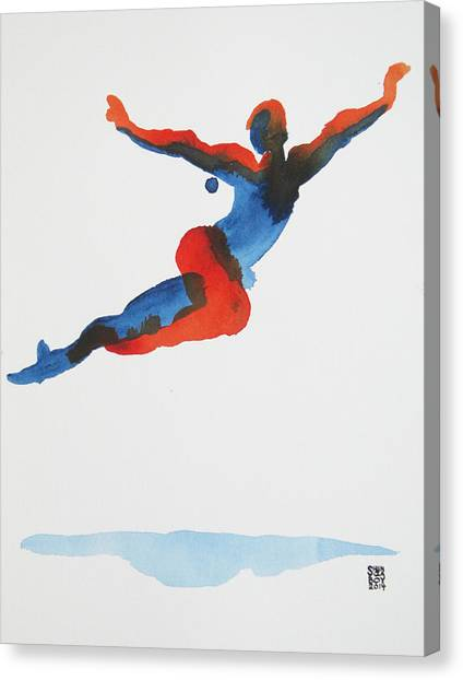 Ballet Dancer 1 Flying Canvas Print