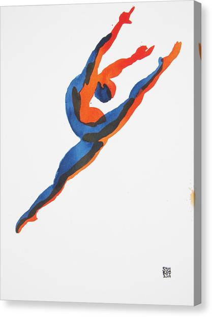 Ballet Dancer 2 Leaping Canvas Print