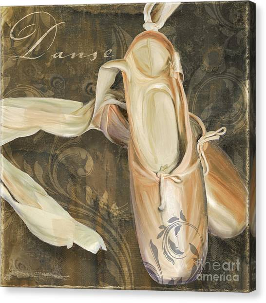 Ballet Shoes Canvas Print - Ballet Danse En Pointe by Mindy Sommers