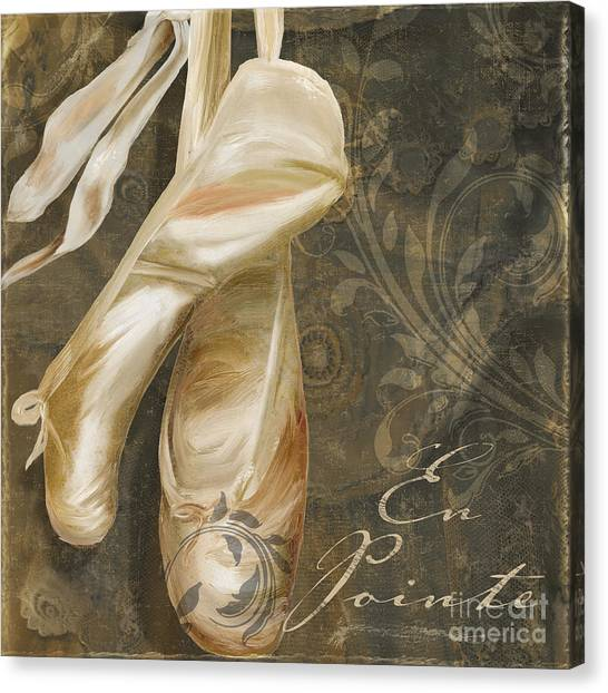 Ballet Shoes Canvas Print - Ballet Danse by Mindy Sommers