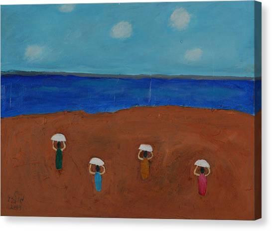 Ballet In The Sands Canvas Print by Harris Gulko