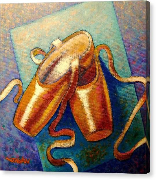 Ballet Shoes Canvas Print - Ballet Shoes by John  Nolan
