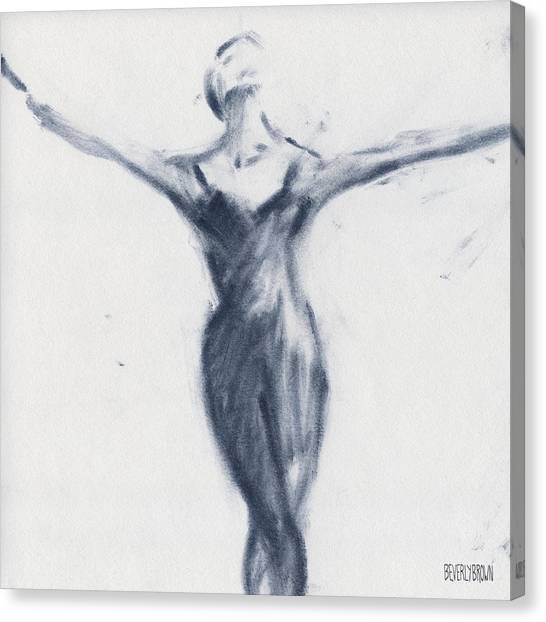 Ballet Canvas Print - Ballet Sketch Open Arms by Beverly Brown Prints