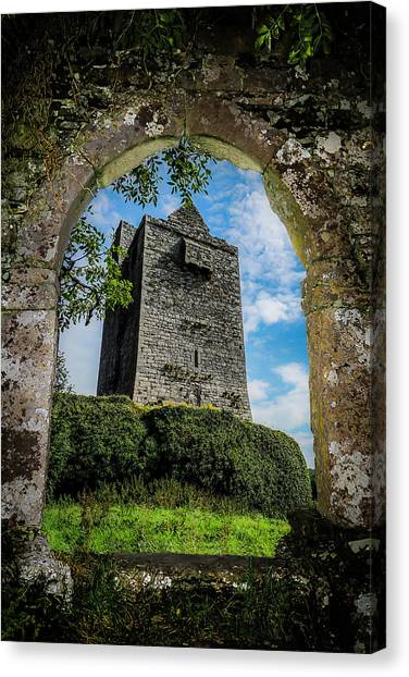 Canvas Print featuring the photograph Ballinalacken Castle In County Clare, Ireland by James Truett