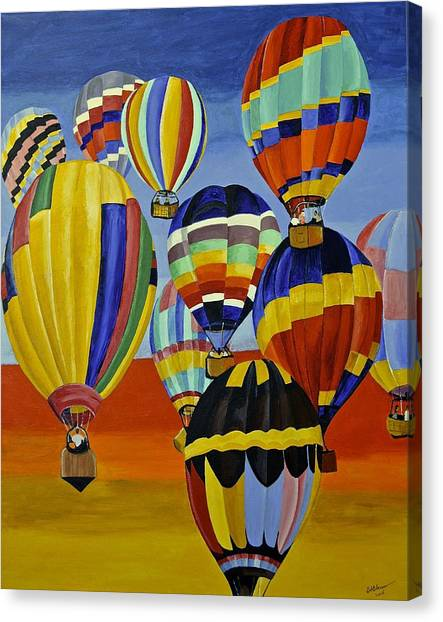 Balloon Expedition Canvas Print