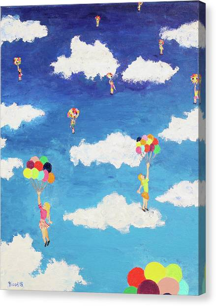 Balloon Girls Canvas Print
