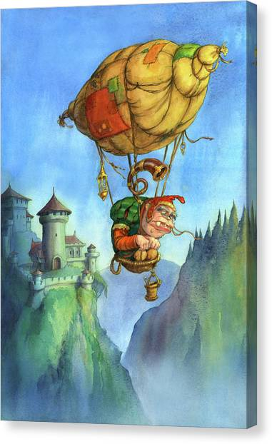 Balloon Ogre Canvas Print