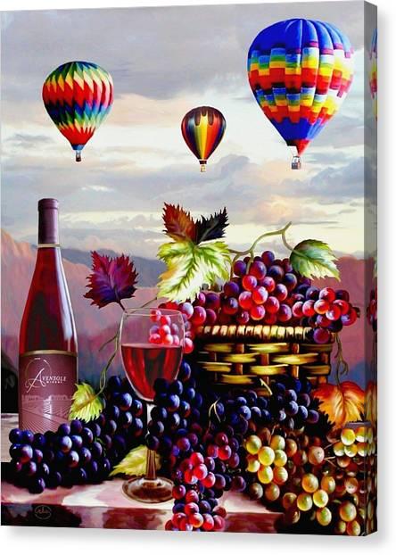 Balloon Ride At Dawn Canvas Print