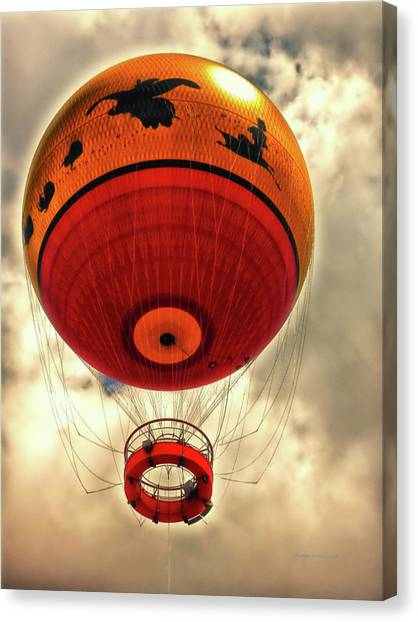 Hot Air Balloons Canvas Print - Balloon Ride Walt Disney World Fl Pm by Thomas Woolworth