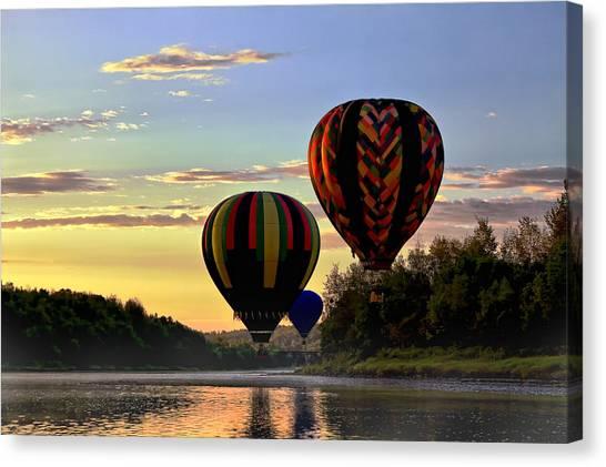 Balloon River Flight Canvas Print by Gary Smith