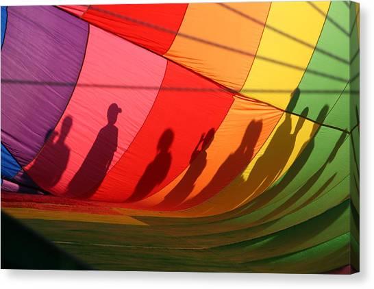Hot Air Balloons Canvas Print - Balloon Shadows by Heather Classen