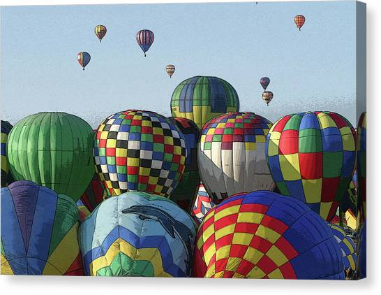 Balloon Traffic Jam Canvas Print