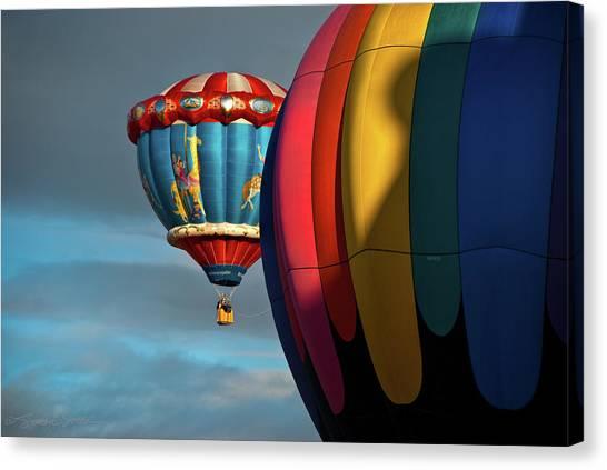 Balloons In Flights Canvas Print