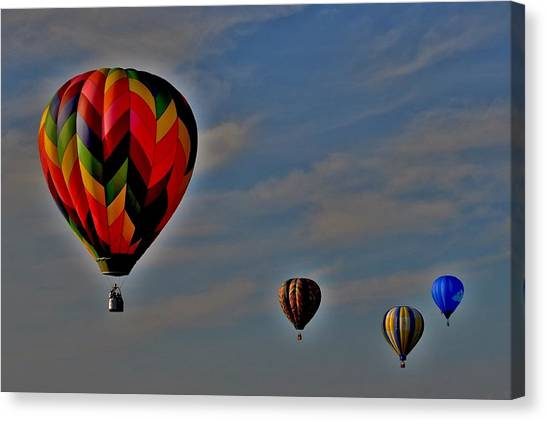 Balloons In The Sky Canvas Print