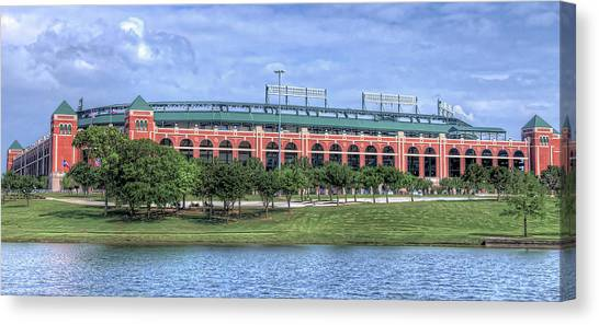 Canvas Print featuring the photograph Ballpark In Arlington Now Globe Life Park by Robert Bellomy