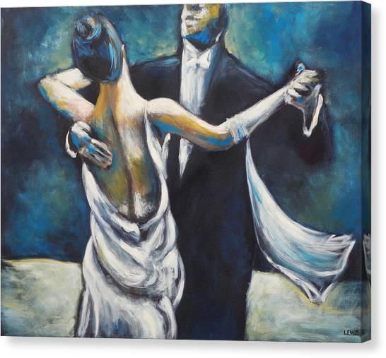 Ballroom Dancers Canvas Print by Ellen Lewis
