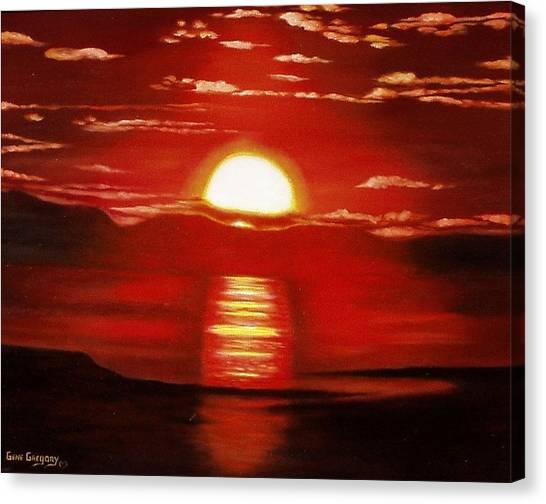 Ballycastle Sunset Canvas Print