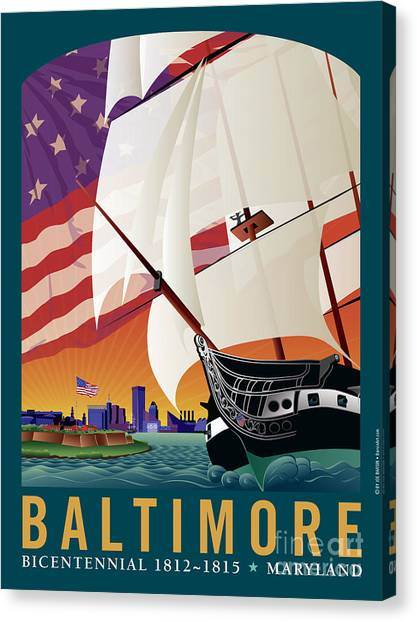 Baltimore - By The Dawns Early Light Canvas Print