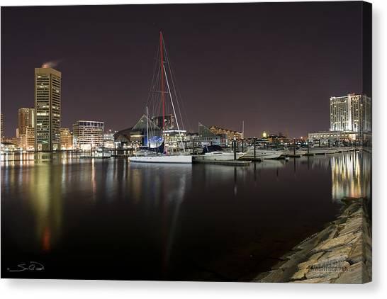 Baltimore Boat Yard Canvas Print by Shane Psaltis
