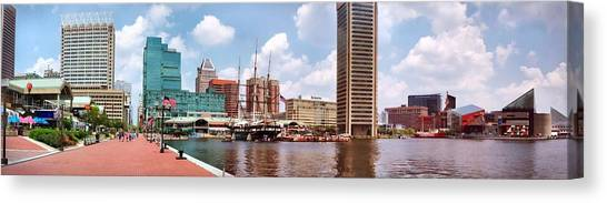 Baltimore Harbor Panorama Canvas Print