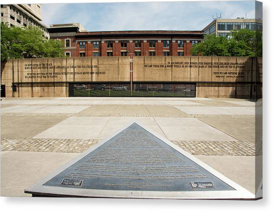 Baltimore Holocaust Memorial Canvas Print