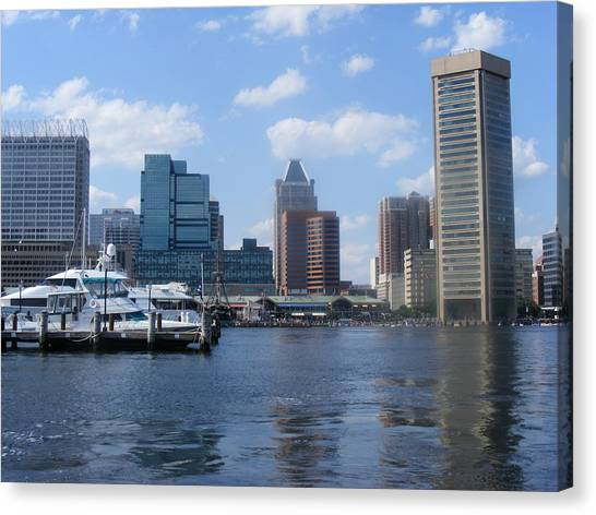 Baltimore Inner Harbor Canvas Print by James and Vickie Rankin