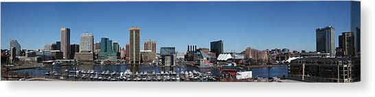Baltimore Inner Harbor Canvas Print