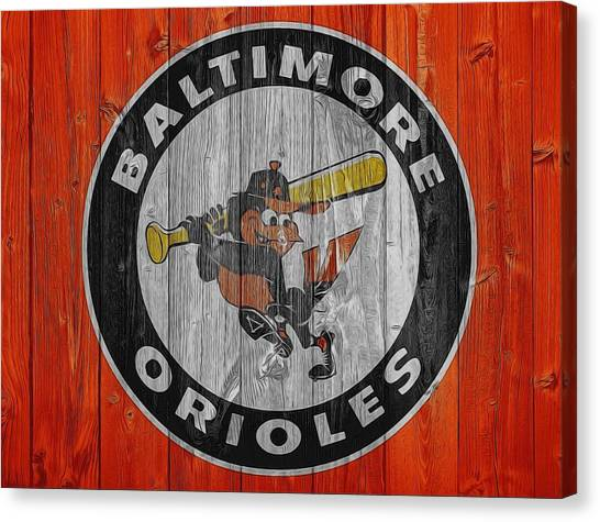 Orioles Canvas Print - Baltimore Orioles Graphic Barn Door by Dan Sproul