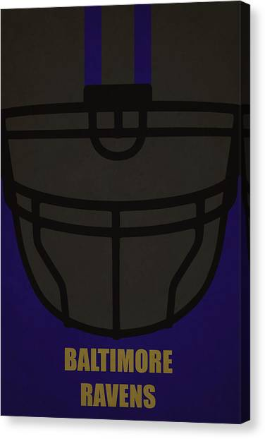 Baltimore Ravens Canvas Print - Baltimore Ravens Helmet Art by Joe Hamilton